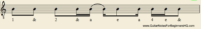 Rhythm Notation Example 2 - Tie
